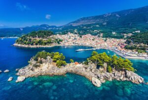 Aerial view of Parga Town